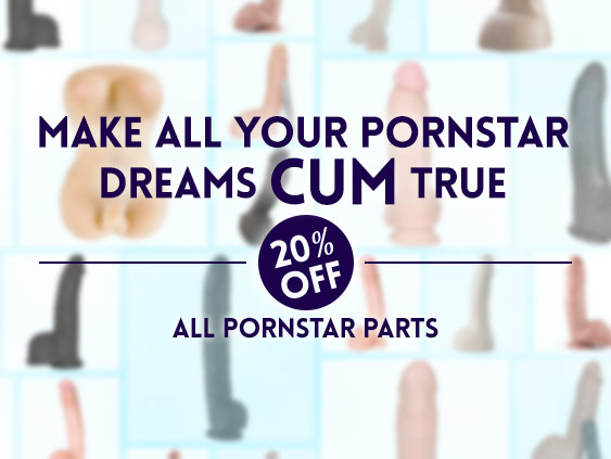 Shop 20% off pornstar parts sex toys.