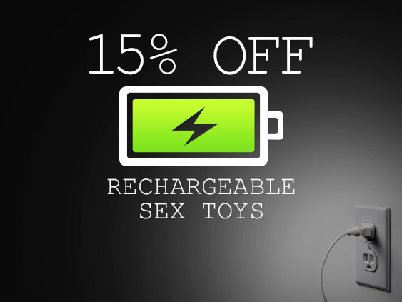 Shop rechargeable sex toys on sale at 15% off.