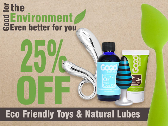 Browse sex toys that are good for the environment.