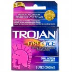 Trojan Fire & Ice Lubricated - 3 Pack Sex Toy