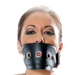 Fetish Fantasy 3 Piece Leather Muzzle Kit - Black Sex Toy