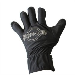 Fukuoku: 5 Finger Left Hand Massage Glove - Black image.