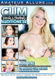 Cum Swallowing Auditions Vol. 24 DVD Image from Amateur Allure.