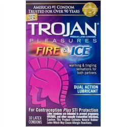 Trojan Fire & Ice Lubricated - 10 Pack Image