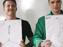 Men try to draw vaginas.
