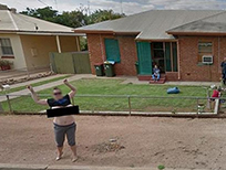 Australian woman flashes Google Streetview.