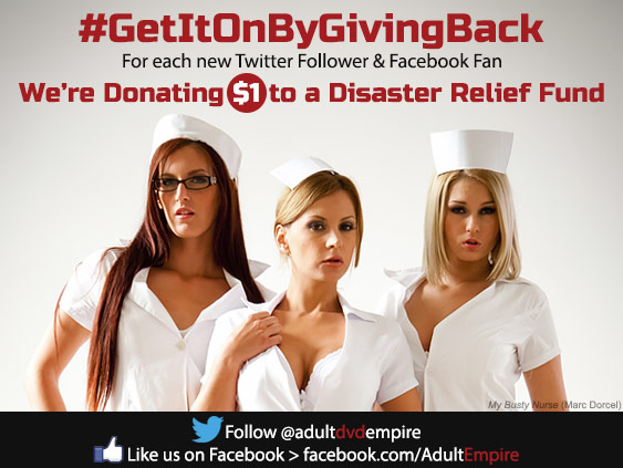 Adult DVD Empire donates to disaster relief.