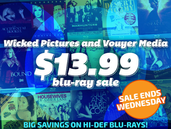Shop Wicked Pictures and Vouyer Media Blu-ray porn movies at a discount.
