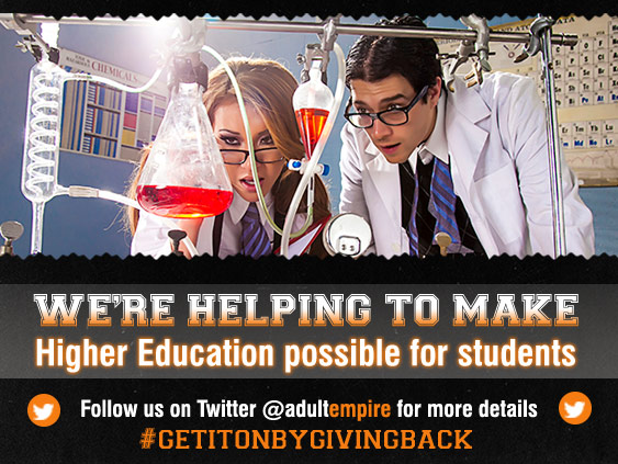 Follow Adult Empire on Twitter and benefit higher education.
