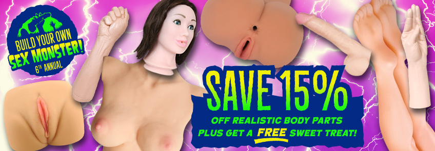 Browse realistic body parts at 15% off.